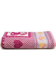 Toalha De Banho Artex Infantil Cissa 70X140Cm Rosa