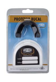 Protetor Bucal Punch Simples Profissional Com Estojo - Preto