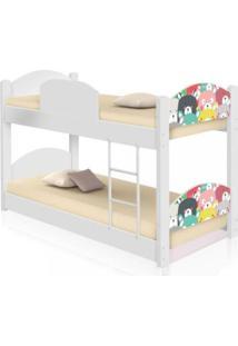 Beliche Infantil Ursinhos Coloridos Com 2 Colchãµes Casah - Branco/Multicolorido - Dafiti