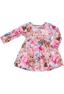 Vestido Bebe Pulla Bulla Estampoa Urso