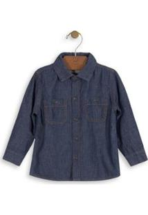 Camisa Infantil Jeans Up Baby Masculina - Masculino-Azul