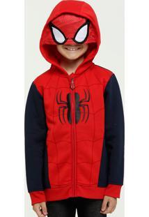 Casaco Infantil Homem Aranha Moletom Capuz Marvel