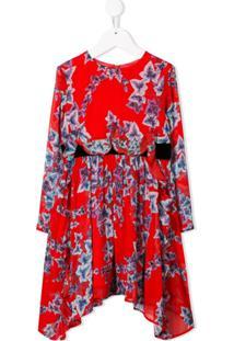 Philosophy Di Lorenzo Serafini Kids Vestido Com Estampa Floral - Vermelho