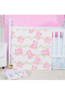Cobertor Manta Bebe Baby Flannel Fofo - Lily