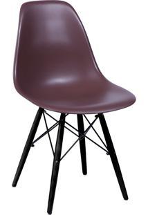 Cadeira Com Base Preta 1102-Or Design - Café