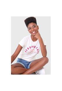 Camiseta Aeropostale Original Brand Off-White