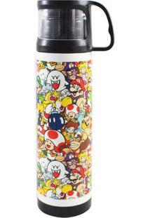 Garrafa Térmica Com Caneca Super Mario World - Zona Criativa