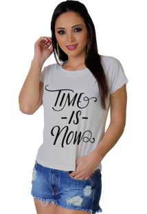 Camiseta Wevans Time Is Now Branca