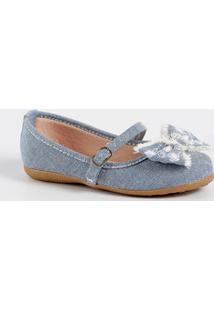 Sapatilha Infantil Jeans Laço Marisa
