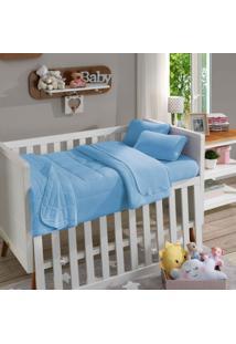 Fronha Para Travesseiro Infantil Soft Baby Lisa Azul Beb㪠- Sbx Tãªxtil - Azul - Dafiti