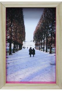 Porta-Retrato Wood Natural E Pink 12X17Cm