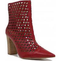 Ankle Boot Cano Curto Vermelha feminina   Shoes4you 21eb1bddbe