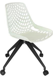 Cadeira De Cozinha Giratória Beau Design Branca E Preta