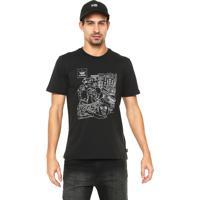 4e8e2d448d Camiseta Adidas Skateboarding Reta Estampada Preta