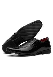 Sapato Social Masculino Lorenzzo Lopez Verniz Preto