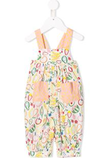 Stella Mccartney Kids Jardineira Com Estampa De Fruta - Branco