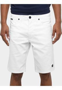 Bermuda Sarja Oakley Mod Essential Reta Masculina - Masculino-Branco