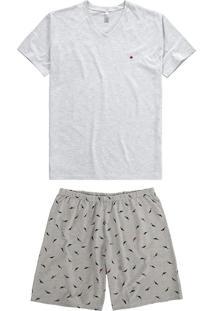 Pijama Mescla Adulto Masculino
