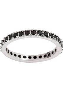 Aliança The Ring Boutique Cravejada De Zircônias Em Ródio Branco