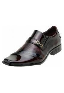 Sapato Social Gofer Verniz Preto Vinho