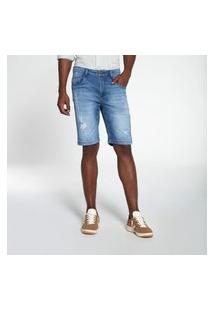 Bermuda Docthos Jeans Médio Matizado Middle Bermuda Docthos Jeans Médio Matizado Middle 164 Jeans Medio 50