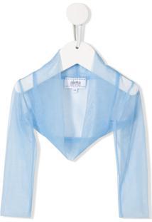 Aletta Sheer Bolero Jacket - Azul