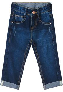 Calça Jeans Skinny Menino Malwee Kids Azul Escuro - 2