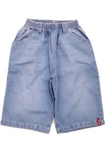 Bermuda Tóing De Elástico Jeans Clara