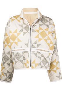 Isabel Marant Étoile Sazzle Patchwork Quilted Jacket - Neutro