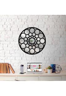 Escultura De Parede Wevans Mandala Bols + Espelho Decorativo -