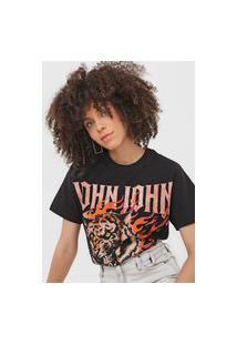 Camiseta John John Tiger Preta