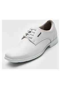 Sapato Social Pegada Recortes Branco