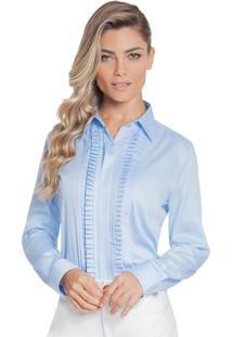 4df603845cda1 Camisa Acinturada Drapeada feminina