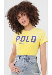 Camiseta Polo Ralph Lauren Logo Amarela - Amarelo - Feminino - Algodã£O - Dafiti