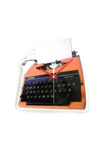 Relógio De Parede Maquina De Escrever Plástico 29X28 Cm