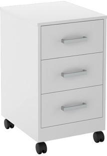 Gaveteiro Office Plus- Branco- 66,5X39X45Cm- Appappunto Móveis