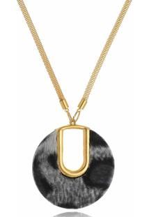 Colar Le Diamond Pingente Animal Print - Dourado - Feminino - Dafiti