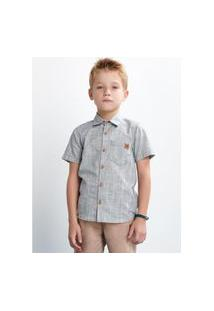 Camisa Infantil Manga Curta Azul