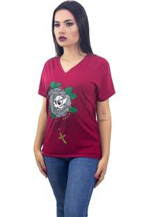 Camiseta Stooge Faith Vermelha - Vermelho - Feminino - Dafiti