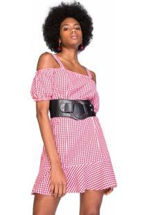 Vestido Amaro Xadrez Vichy - Feminino