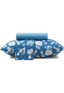 Jogo De Cama Solteiro Altenburg Cotidien Lucy 88X188Cm Azul