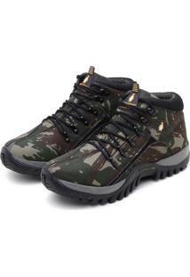 Bota Adventure Masculina Confortável Macshoes 218 Verde Militar