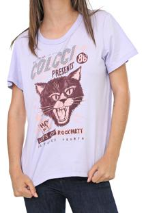 Camiseta Colcci Rock Party Lilã¡S - Lilã¡S - Feminino - Algodã£O - Dafiti
