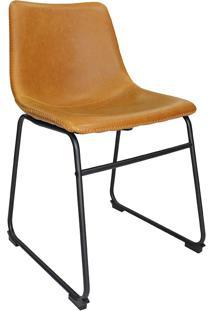 Cadeira De Jantar Vintage Mkc-043-Marka Móveis - Caramelo