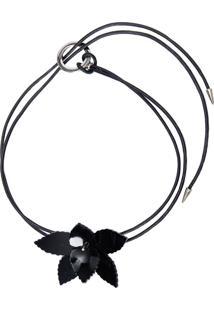 Colar Feminino Orquídea - Preto