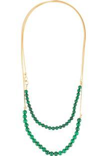 Crystalline Colar Com Jade - Verde