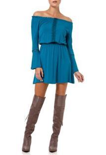Vestido Curto Feminino Ciganinha Verde