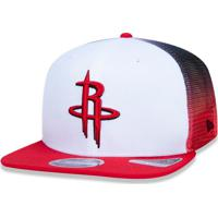 1fba1c449 Boné New Era 920 Houston Rockets Aba Curva Branco Preto