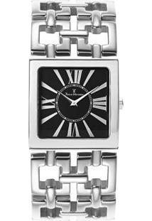 Relógio Analógico Jv75360P- Prateado & Preto- Jean Vjean Vernier