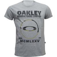 f0ed6932056f2 Camiseta Oakley Seeing Double Elipse Masculino - Masculino-Cinza